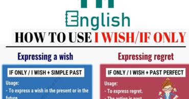 گرامر wish و if only در زبان انگلیسی