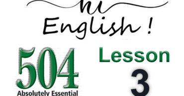 کتاب 504 واژه - درس 3